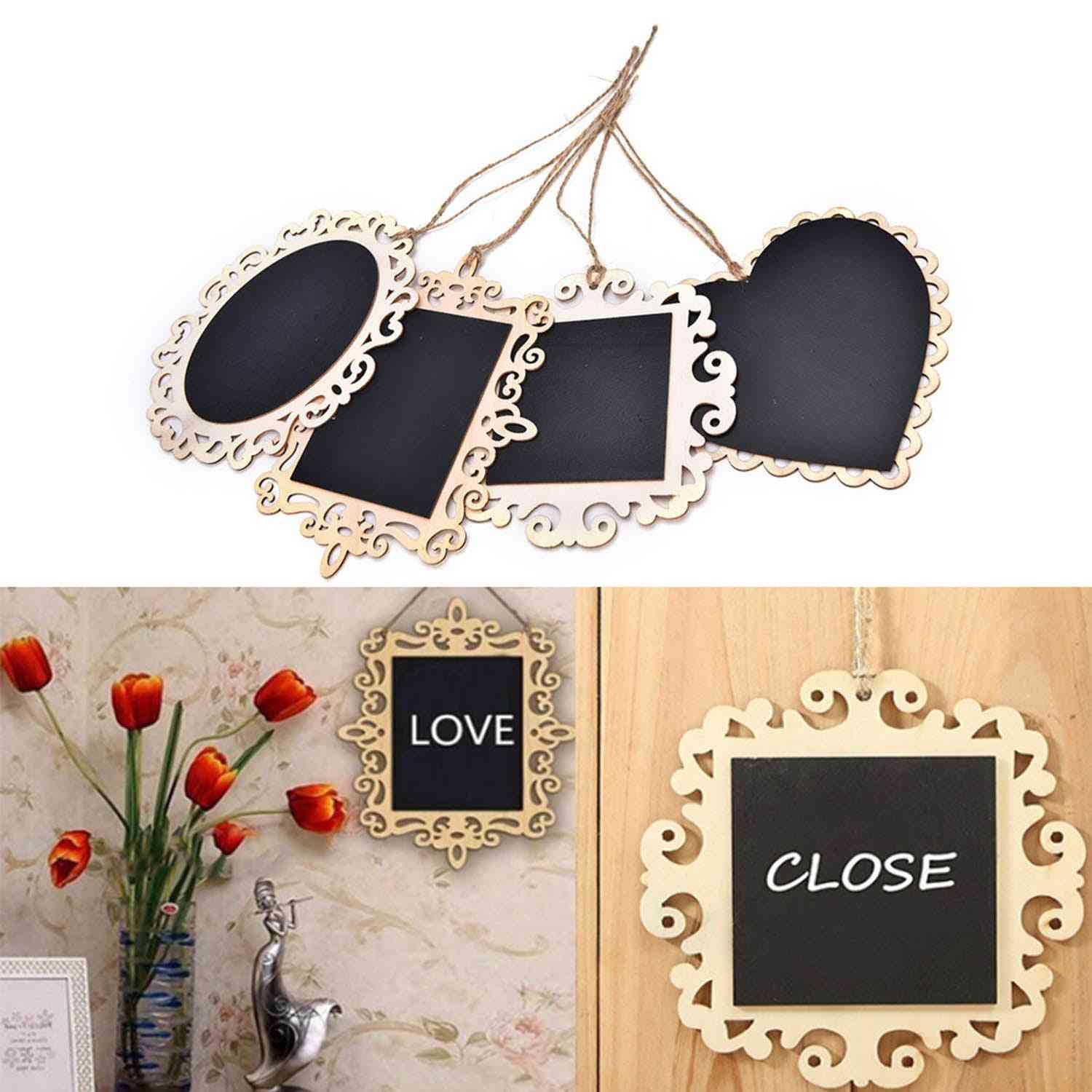 Hanging Mini Wood Blackboards, Chalkboards, Message Signs Boards For Wedding, Party, Home Decor