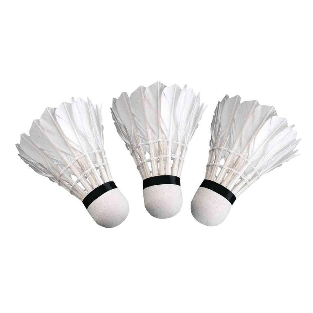 Goose Feather Badminton Balls Sport Plastic Shuttlecock
