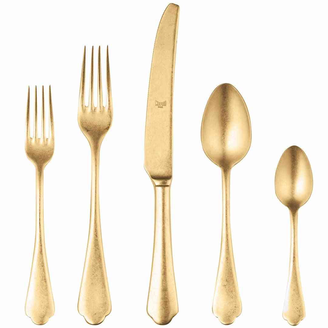 Cutlery Set 5 Pcs Dolce Vita Pewter Oro