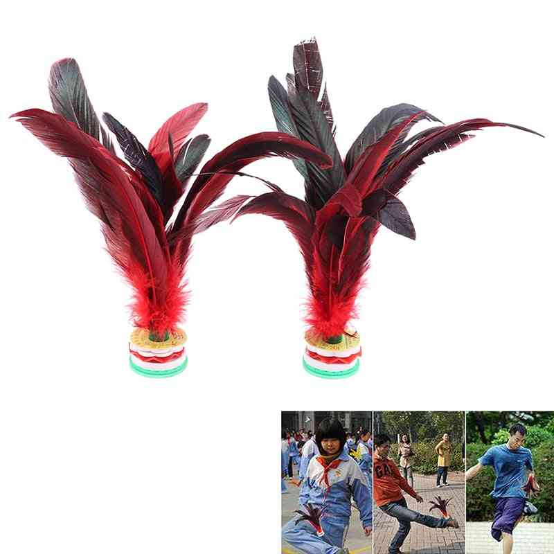 Foot Kick Hand Wheel Fancy Goose Feather Shuttlecock For Fitness Entertainment