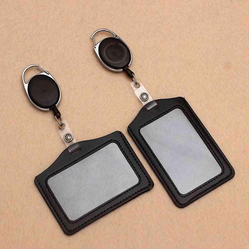 Black Retractable Pull Badge Reel Holder