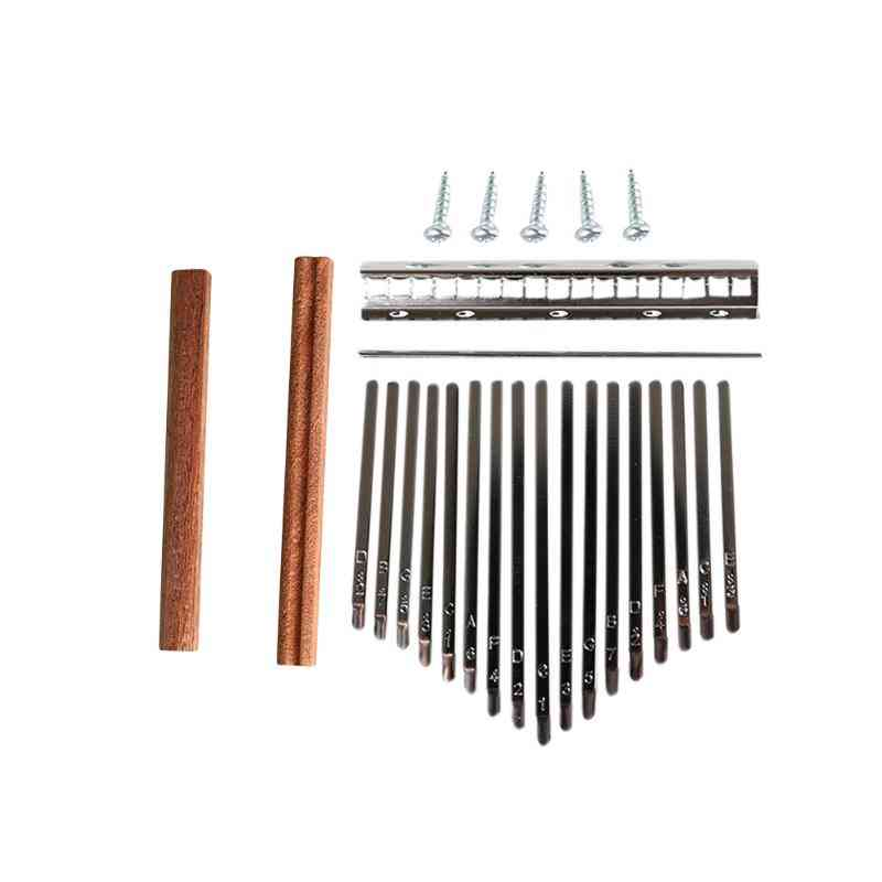 Kalimba Diy Set Durable Thumb Piano Steel Key Wood Bridge