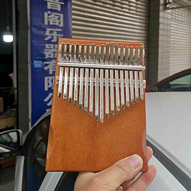 17 Key Kalimba Thumb Piano Mahogany Musical Instrument
