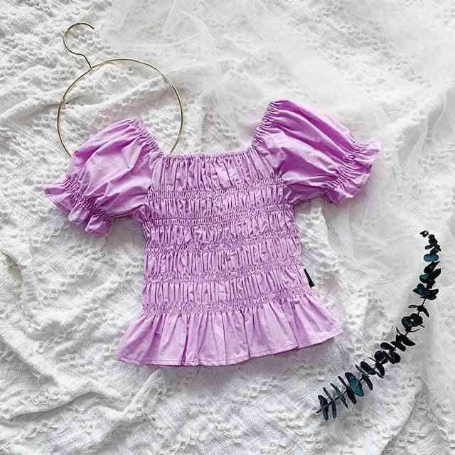 Summer Korean Style Puff Sleeve Baby Princess Shirts