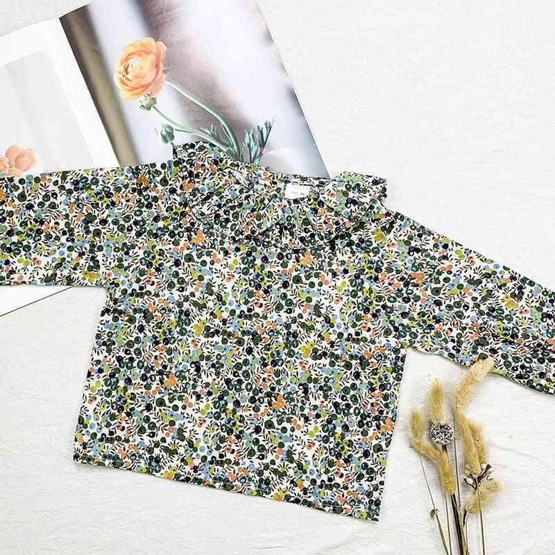 Flower Kids Baby Blouse Shirt, Spring Autumn Shirt