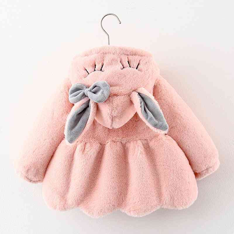 Ears Plush Baby Jacket, Christmas Sweet Princess Coat