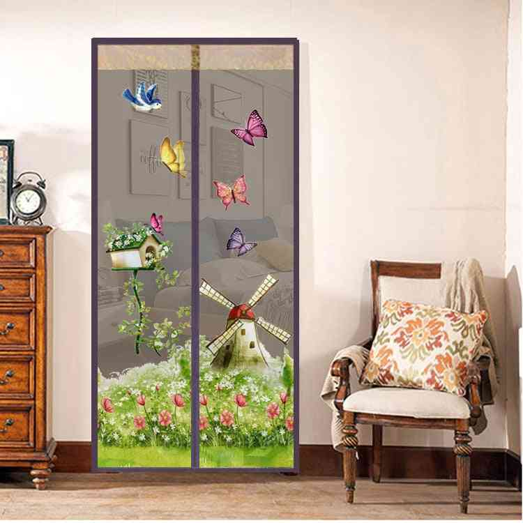 Magnetic Screen Door Hands-free Anti Curtains Mosquito Net