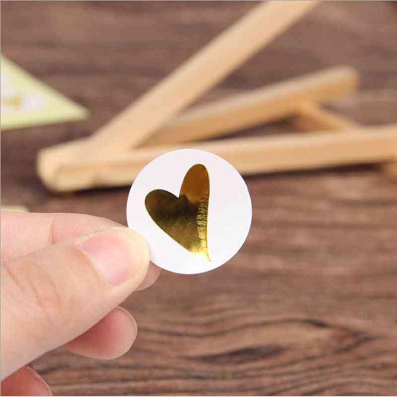 Round Bronzing Heart Gift Seal Label