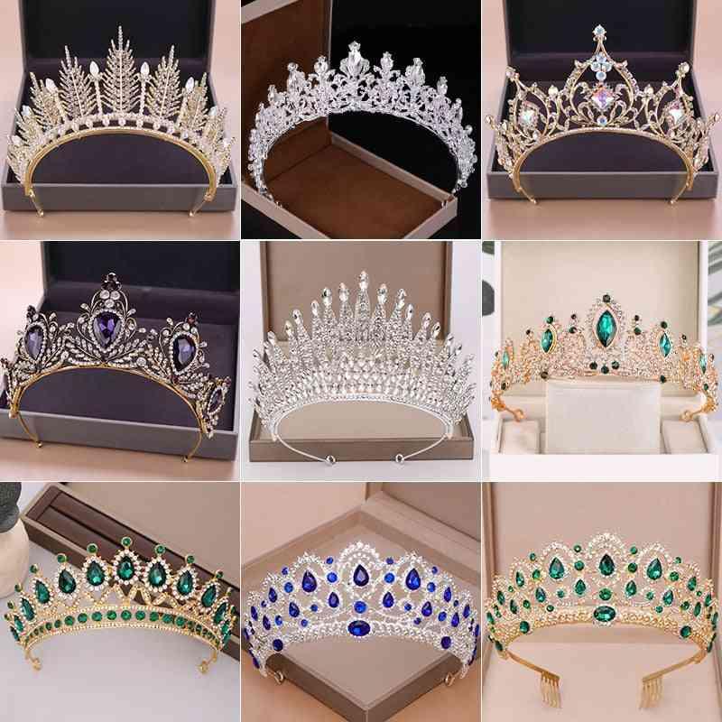 Wedding Crown, Bridal Headpiece, Rhinestone Crystal, Queen Princess Tiaras Wedding Hair Jewelry