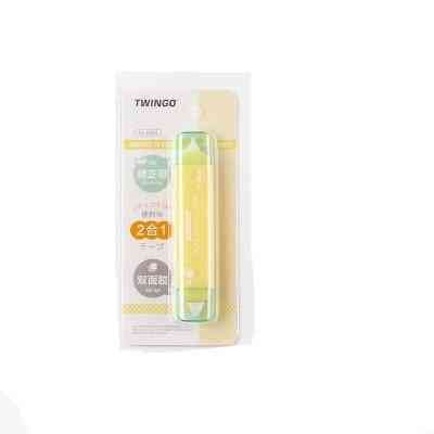 Jianwu Creative Two In One Mini Double Head Correction Tape Adhesive Tape Punctiform Adhesive Glue Learning Stationery Kawaii