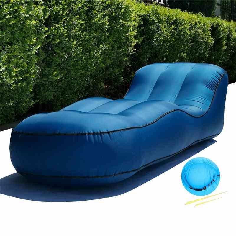 190x72x50cm Outdoor Furniture Inflatable Bed Seats Portable Air Sofa Chair Home Garden Beach Patio Furniture Air Couch Lounger
