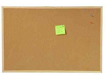 Wall Mounted Cork Board & Wood Hanging Message Board