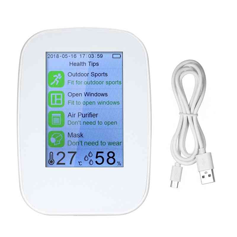 Air Quality Monitor Detector Gas Analyzer Thermometer Hygrometer