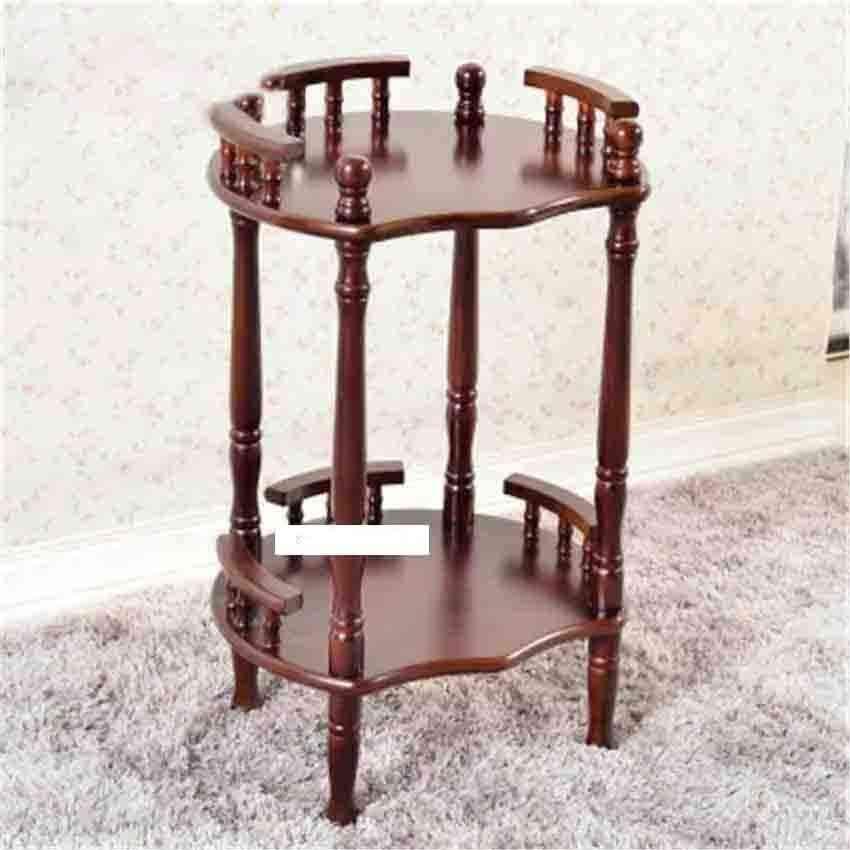Solid Wood Coffee Table Double-layer Rack Side Corner Shelf Tea Rack