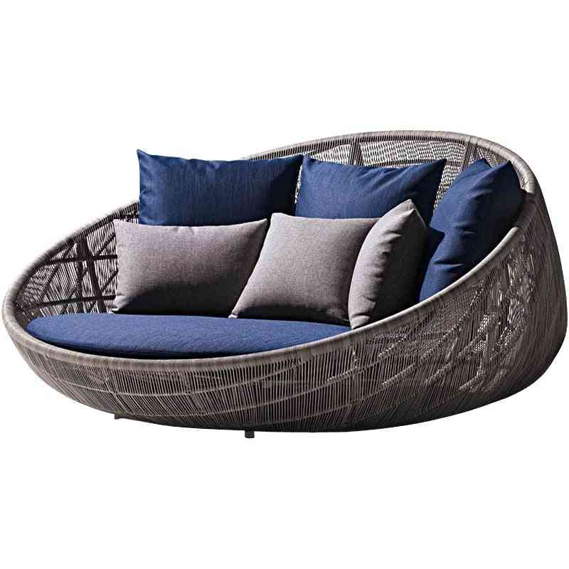 Home / Office Leisure Outdoor Rattan Daybed With Cushion