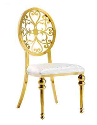 Gold Carve Wedding Dining Chair