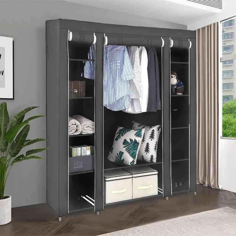 Non-woven Wardrobe Storage Organizer Portable Folding Dust-proof Waterproof Storage Cabinet