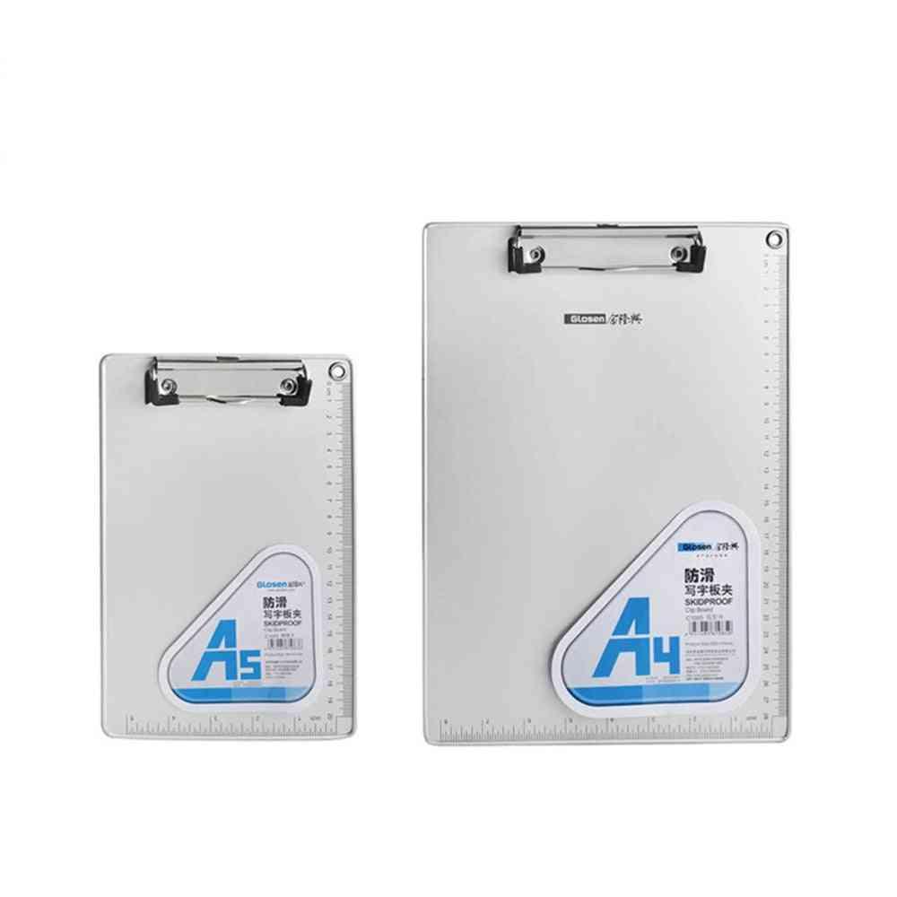 Aluminum Alloy A4 Clipboards Portable Clip Board
