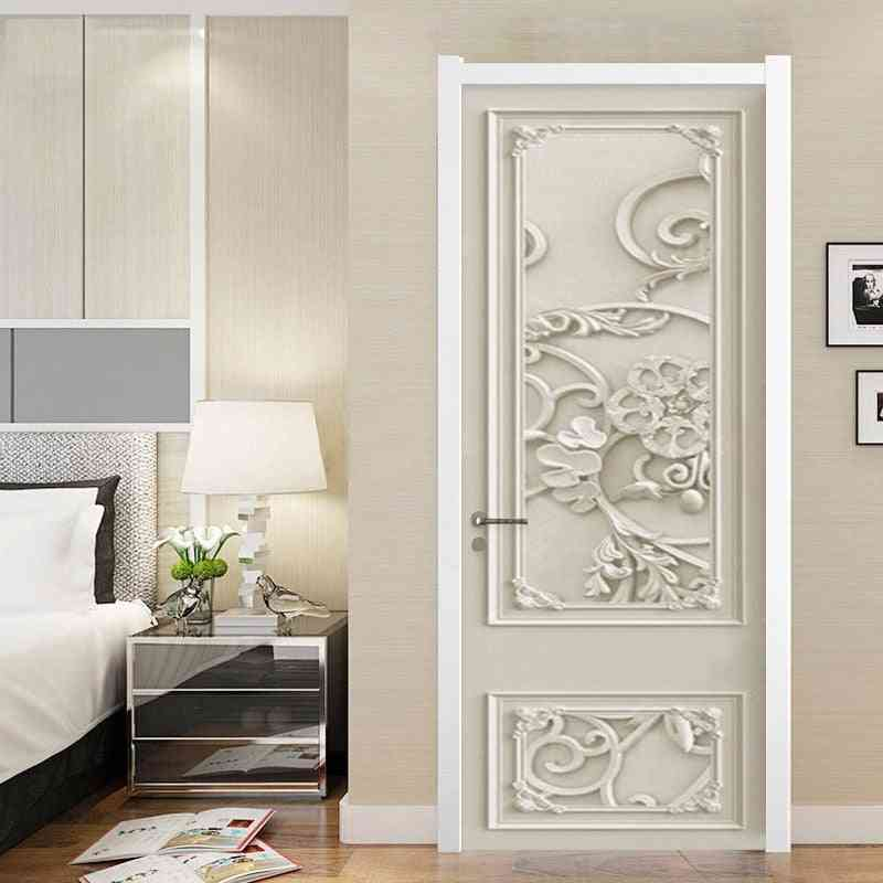 Border 3d Stereo Floral, Home Decor Door Decal Pvc Sticker