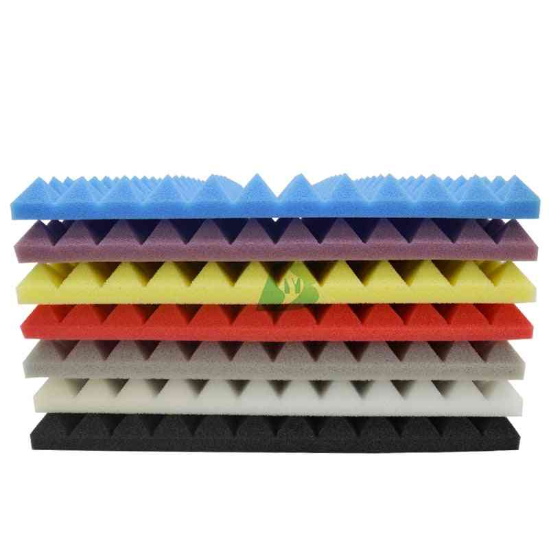 Pyramid Sound Insulation Silencing Studio Acoustic Foam Sound Absorption Tiles