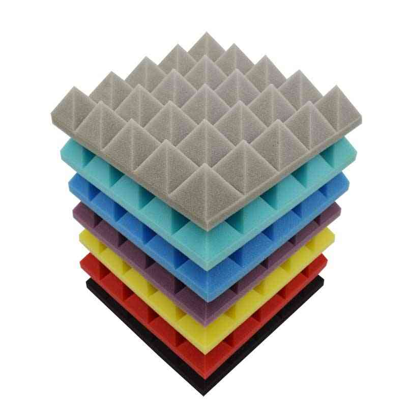 Pyramid Acoustic Foam Soundproof Panel Studio Sound Treatments Absorption Board Insulation Tiles