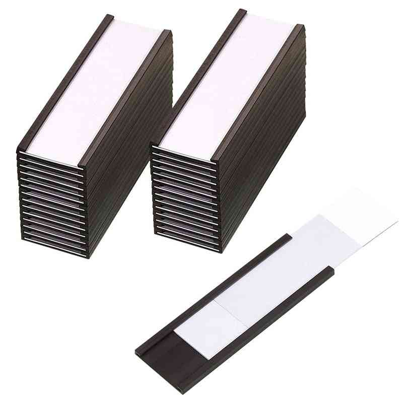 Netic Label  With Data Card Holders With Clear Plastic Protectors For Metal Shelf