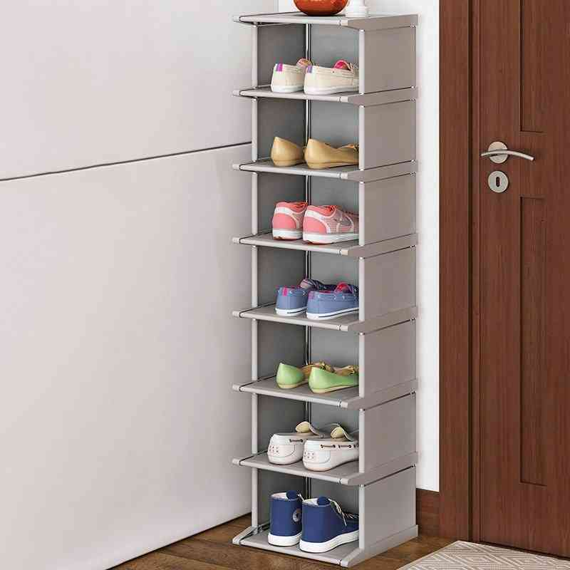 Steel Tube Frame Corner Shoe Shelf Stand Holder Space Saver