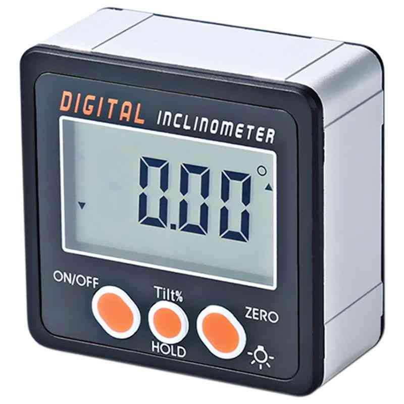 Digital Inclinometer, 0-360 Angle Triangle Ruler Meter Gauge