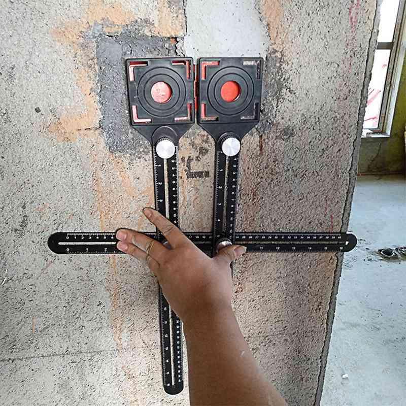 Tile Opening Locator, Mud Shop Paste, Floor Glass Vientiane, Hole Punch, Multi-functional, Adjustable Tool