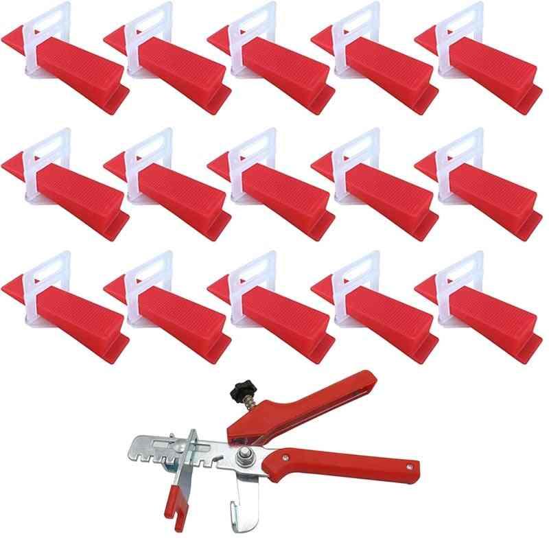 Tile Leveling System, Clips+ Wedges+ Plier Plastic Tiling Tools, Tile Spacer