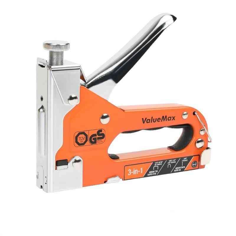 Value Max 3 In 1 Stapler Nail Gun, Furniture Tool Wood Frame-stapler