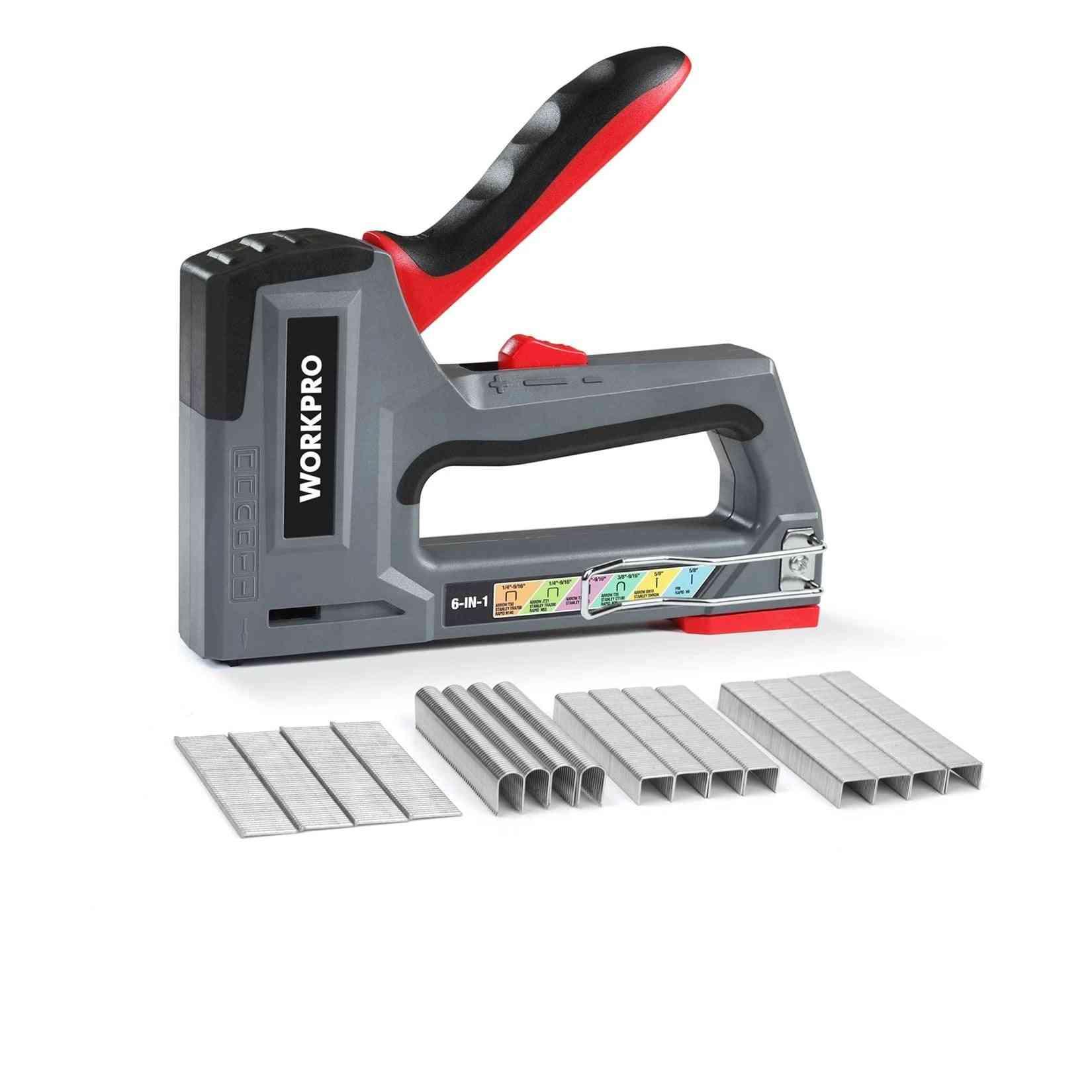 Manual Staple Gun Stapler Upholstery Plastic Furniture Tool