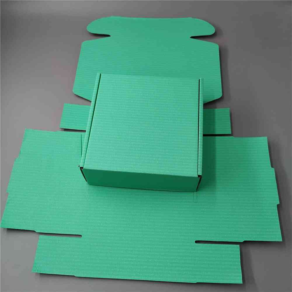 Green Recycled Corrugated Box Flat Square