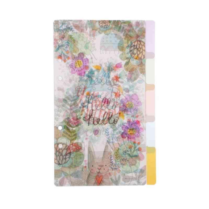 Floral Category Planner Index Page Notebook Binder