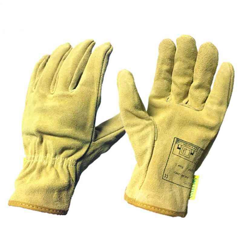 Heavy Duty Gardening Working Leather Gloves