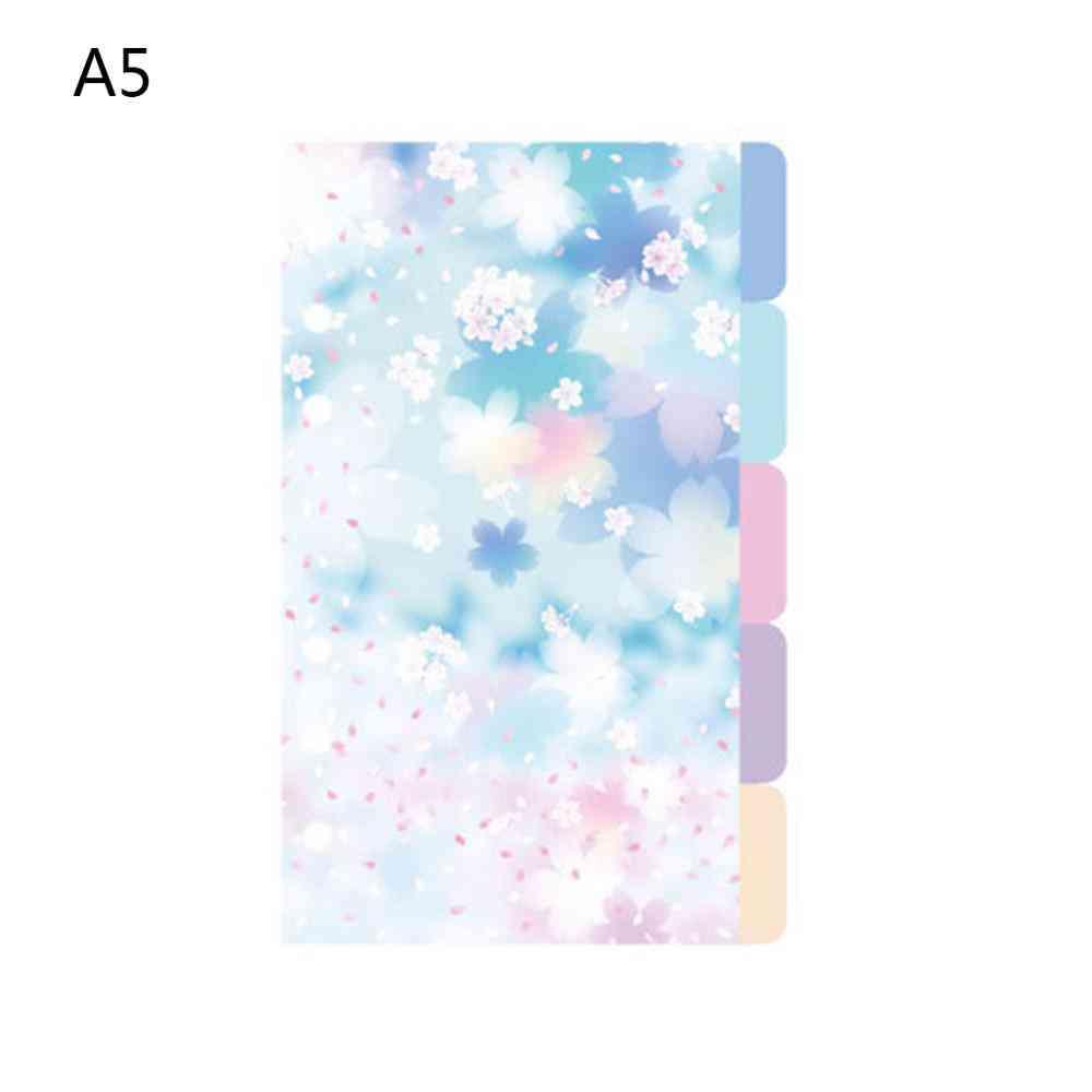 A5 A6 Loose Leaf Notebook Divider For Index Separator Binders