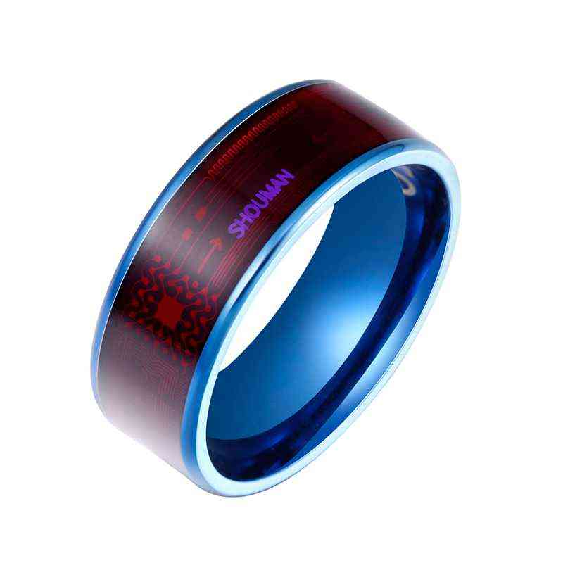 Men's Ring, Magic Wear, Nfc Smart Rings, Finger Digital For Android Phones With Functional Couple Stainless Steel
