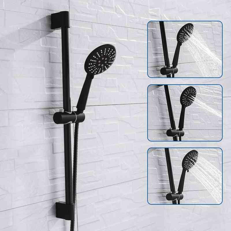 Adjustable Function Shower Riser Slide Bar With Hand Held Hose Wall Mount Set