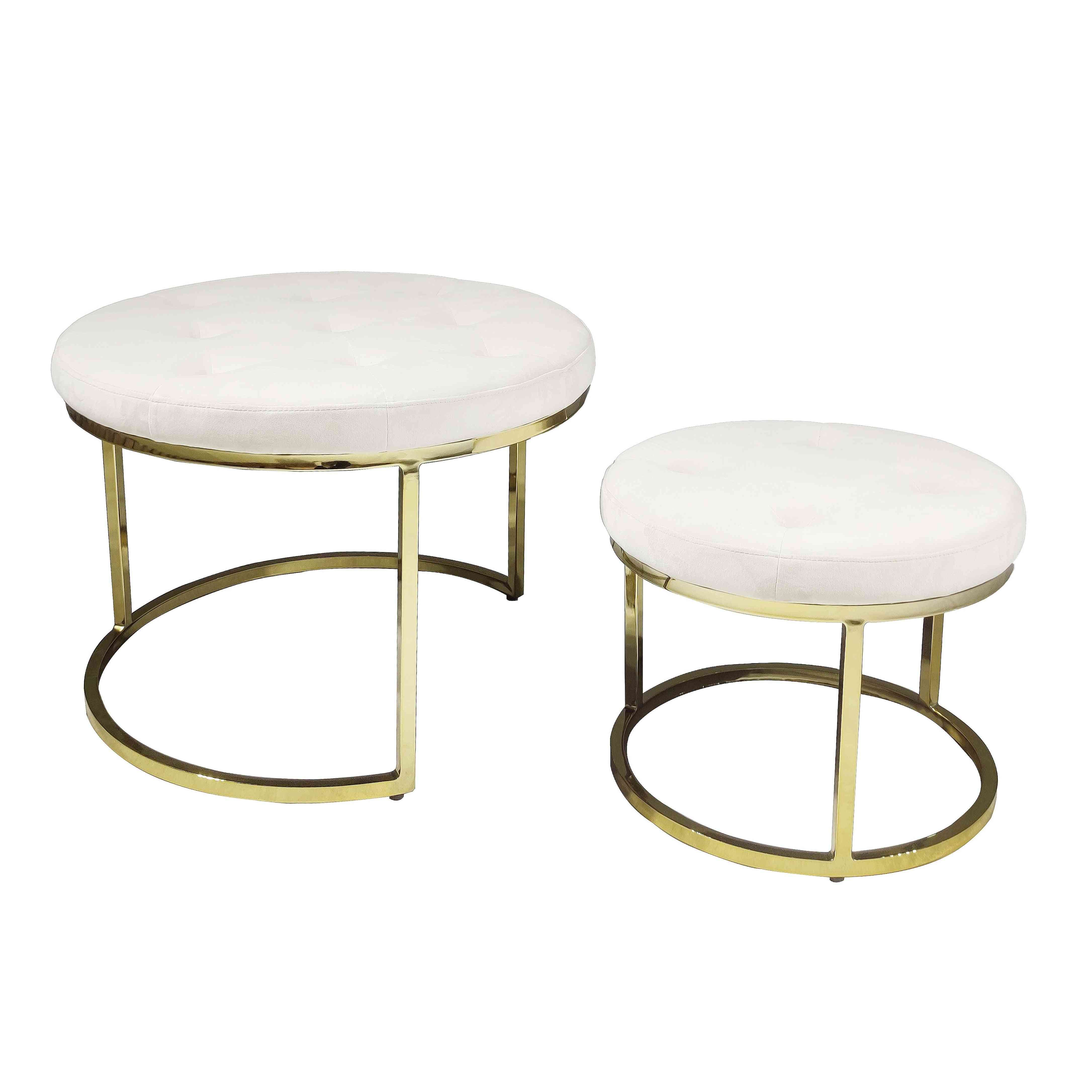 Manufacturing Factory Modern Light Stainless Steel Foot Stool