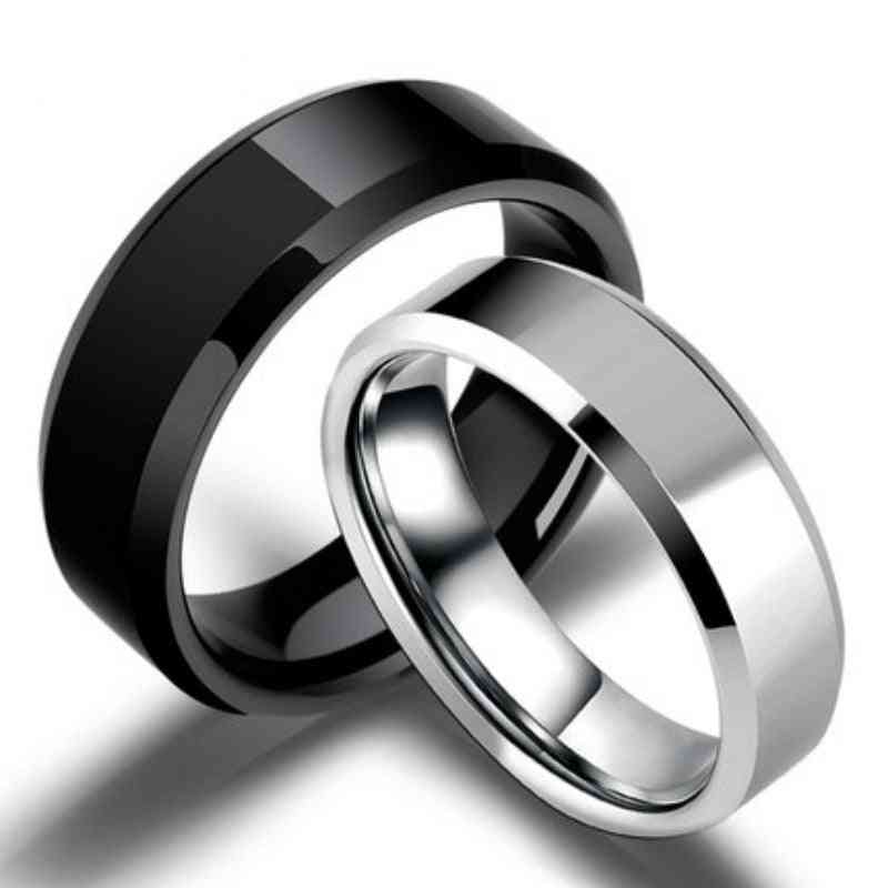 Models Ring Men, Titanium Anti-allergy, Smooth, Wedding Couples Rings For Man Or Woman