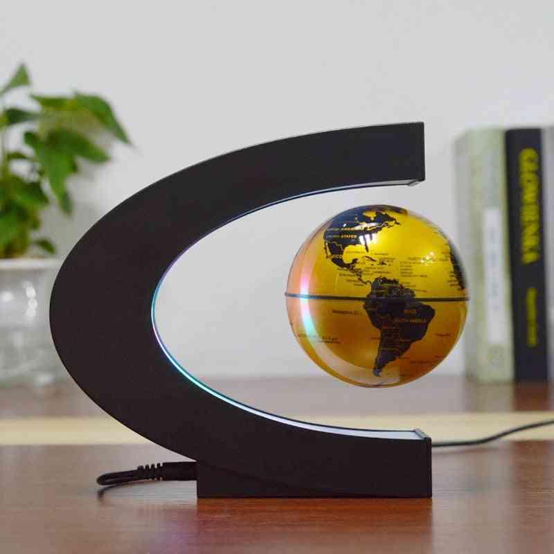 Magnetic Levitation Globe C-shaped  Shelf Student School Teaching Equipment