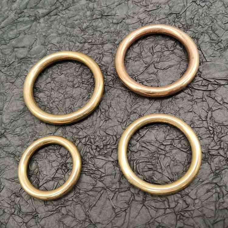 Luggage Accessories Ring, Pure Copper Brass D-ring