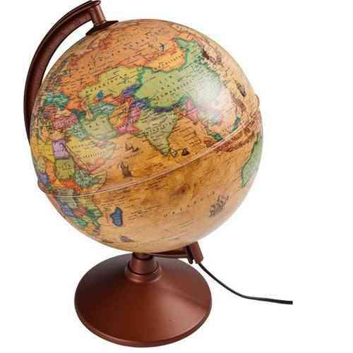 Illuminated Antique Globe