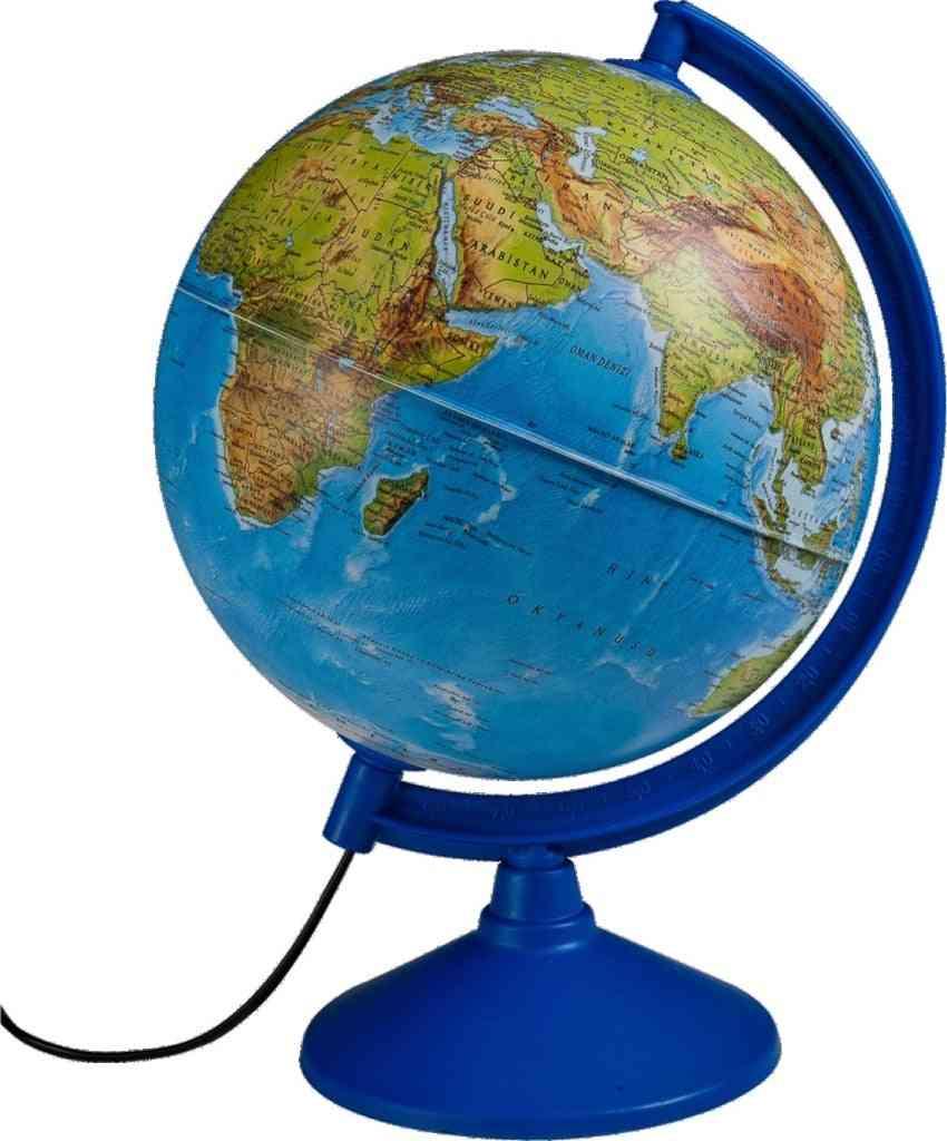 Objektive Illuminated Physical Political Map Globe