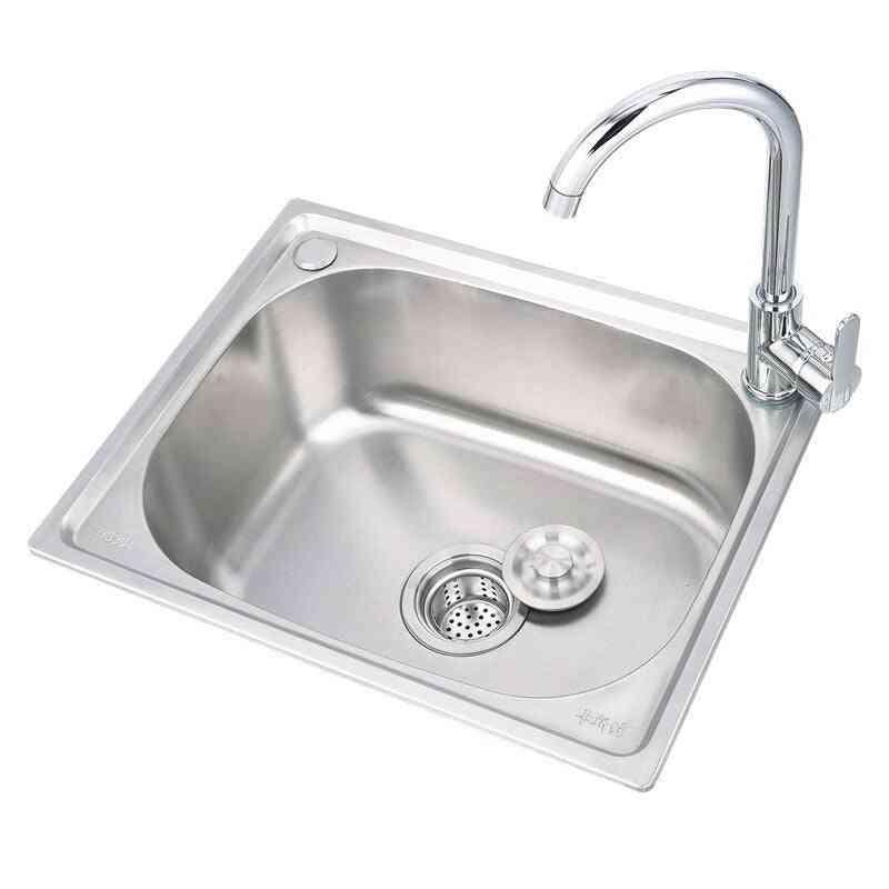 Kitchen Sink Single Basin Large Single Slot Set Copper