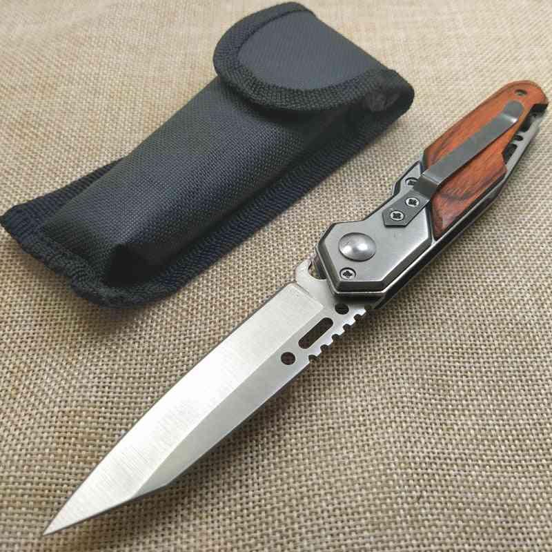 7.4'' Damascus Military Knife Shaped Pocket Tactical Folding Blade