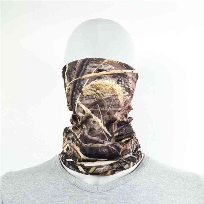 Military Camouflag Scarves, Polyester, Breathable, Windproof, Anti Uv Neck Cover, Face Mask