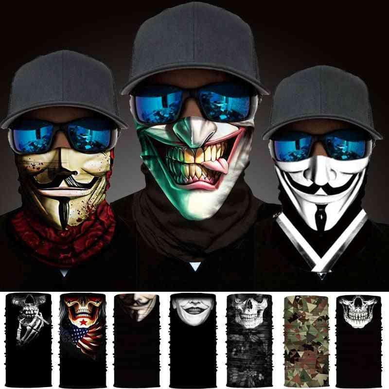 Headwear Skull Neck Bandanas Windproof Magic Scarf, Cycling, Hiking, Mask For Neck