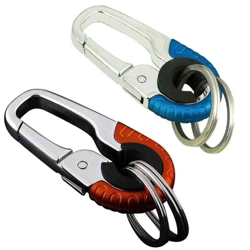 Durable Keychain Hook, Metal Buckle, Outdoor Carabiner Climbing Tools, Double Ring