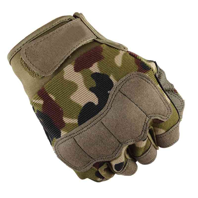 Men's Sports Fitness Weight Lifting Gym Gloves, Training Fitness, Bodybuilding Workout Wrist Wrap, Exercise Tactical Glove